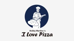 我爱披萨LOGO设计